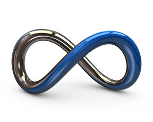 Blue and silver infinity symbol