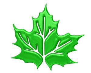 Green maple leaf icon