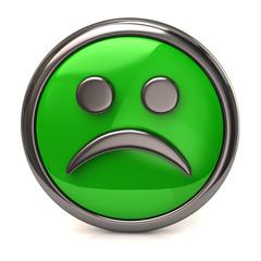 Sad green button