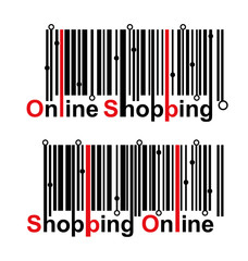Online shopping barcode design