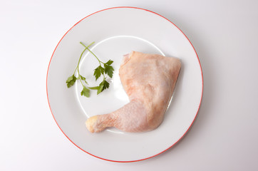 Chicken leg with parsley