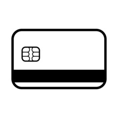 The credit card icon. Bank Card symbol.