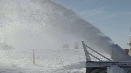 Israel. Hermon. snowblower