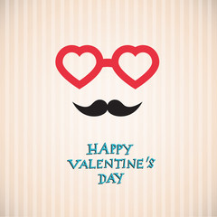 Happy Valentines Day - Hipster Valentine