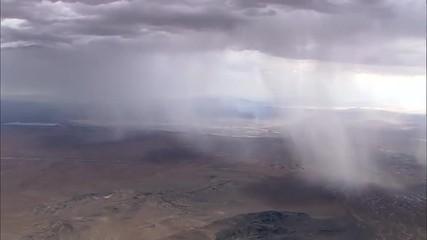 Rain Clouds Desert Plateau