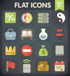 Universal Flat Icons for Web and Mobile Applications Set 21