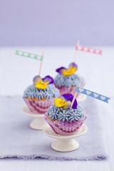 Three mini cupcakes