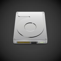 Vector Data Storage Hard Disc Drive Icon
