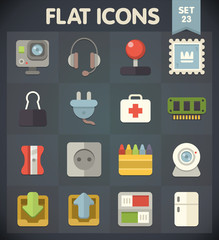 Universal Flat Icons for Web and Mobile Applications Set 23