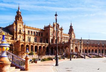 Plaza de Espana in  day time at Sevilla