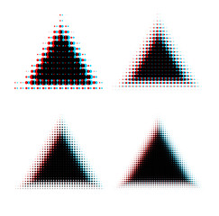 Halftone triangle design elements