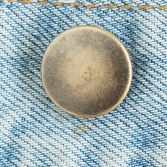 old metal button of jeans fashion