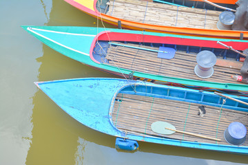 colorful boat on the lake