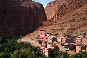 Morocco. Canyon Todra in the Atlas mountains