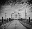 Taj Mahal on sunrise sunset, Agra, India - 76706153