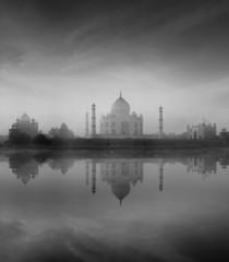 Taj Mahal with reflection, Agra, India
