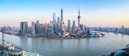 Deurstickers Shanghai shanghai skyline panoramic view