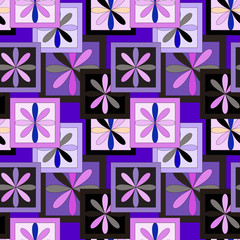 Geometric patchwork color  Seamless pattern