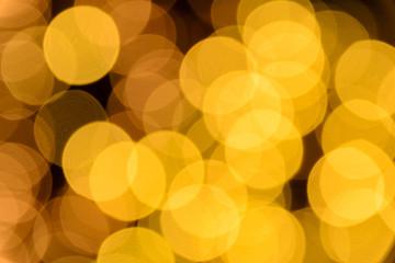 circle yellow color bokeh lights