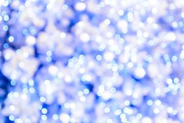 blue tone color bokeh lights