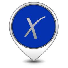 check pointer icon on white background