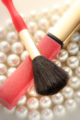 Make up brush on pearl