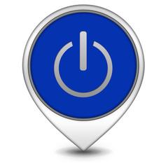 power pointer icon on white background