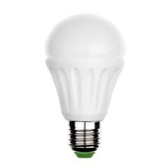 LED light bulb with e27 ceramic socket Isolated on white