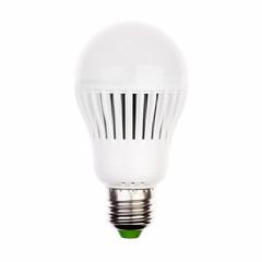 LED light bulb with e27 socket on white