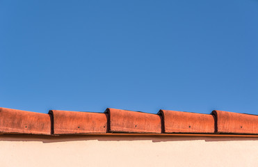 Blue Sky & Red Roof Top Edge