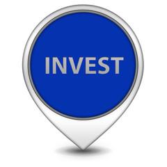 Invest pointer icon on white background