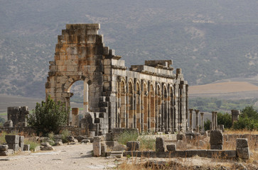 Morocco. The ruins of the ancient Roman city of Volubilis