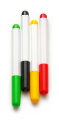 Bright markers on white