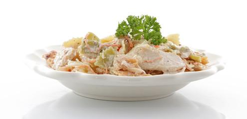 Salade pâtes poulet