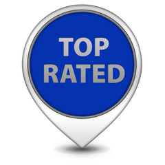 Top rated pointer icon on white background