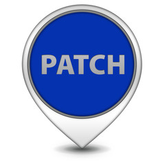 Patch pointer icon on white background
