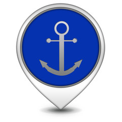 Anchor pointer icon on white background