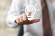 Button idea bulb innovation sign business businessman icon