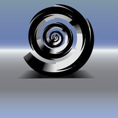 Spirale schwarz