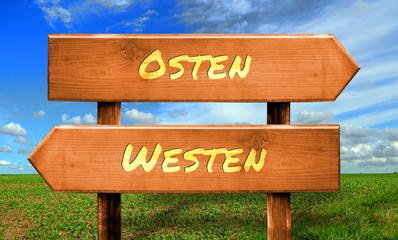 Strassenschild 33 - Osten Westen