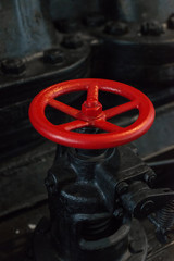 Red valve. Part of old power plant.