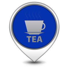 Tea pointer icon on white background