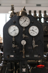Vintage Dashboard. Part of old power plant.