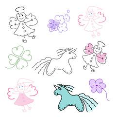 set of magic toys