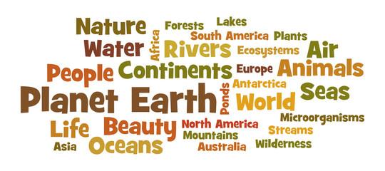 Planet Earth word cloud