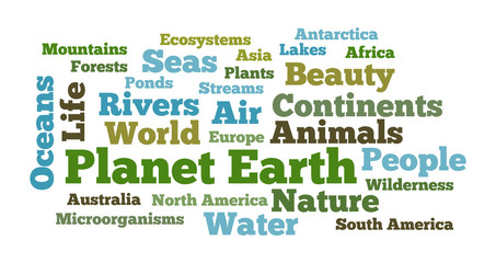 Planet Earth word cloud
