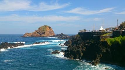 Rocky shore. Madeira island