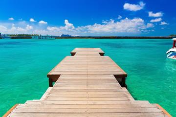 Maldives, wood bridge