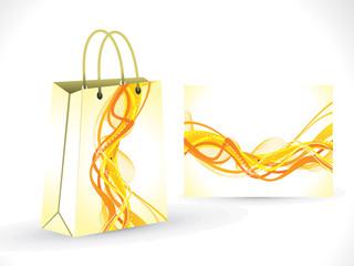 abstract yellow shopping bag
