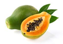 """Постер, картина, фотообои """"Papaya with leaves"""""""